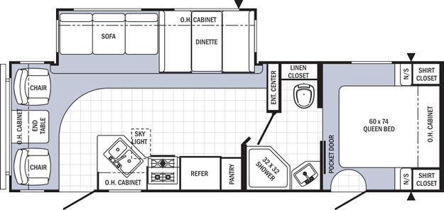 Travel Trailer floor plan- Puma